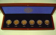 6 x 2 Euro 50 Jahre Elysee Vertrag Deutschland Frankreich 2013 bfr. im Luxusetui
