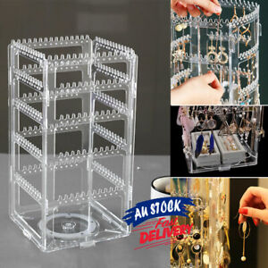 360 Rotating Rack Display Stand Jewelry Earring Holder Organizer Necklace
