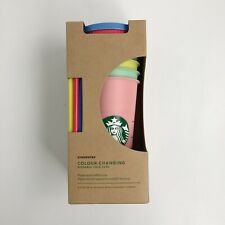 Starbucks Colour-Changing Reusable Cold Cup Tumbler 5 Pack 709ml 24oz Brand New