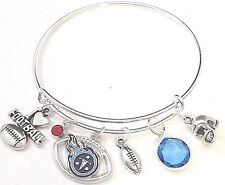 Tennessee Titans Football Bangle Bracelet NFL Charm Sports FAST SHIP QUALITY USA