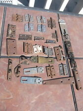 Lot of Various Cabinet and Door Hinges with Hasp Locks