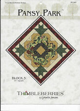 Pansy Park Block 3 Leaflet Quilt Block Pattern Thimbleberries Lynette Jensen