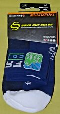 New Multisport Save Our Soles Socks Frisco CO Medium Cool Max