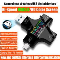 USB C Leistungstester Typ C USB Tester Digitalmultimeter Spannungsmessgerät DE