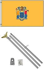 3x5 State of New Jersey Flag Aluminum Pole Kit Set 3'x5'