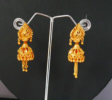 New Gold Plated Earring Indian Jhumka Drop Dangle Chandelier Bollywood Jewel H40