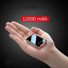 12000mAh Mini Power Bank USB Charging Portable Charger External Battery Pack For