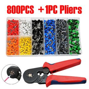 800PCS Wire Crimp Connectors Cable Cord Pin End Ferrule Tools Terminal Set