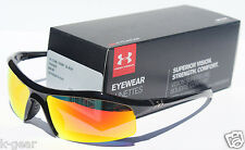 UNDER ARMOUR Zone Sunglasses Shiny Black/Orange NEW Sport/Cycle $100