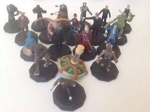 """DR WHO 1"""" CAKE TOPPERS - MICRO UNIVERSE FIGURES - GREAT CHOICE TENNANT DALEK"""