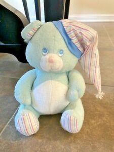 Vintage Russ Bear plush terrycloth Baby Soft Lullaby light blue