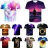 Men's Women 3D Print T-shirt Gentle Graphic Casual Short Sleeve Crew Tops Tee