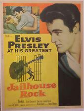 Jailhouse Rock vintage movie poster one sheet Elvis Presley VERY Rare Style