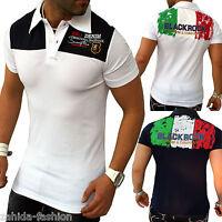 ZAHIDA JEEL Herren T-Shirt Shirt Shirts Polo Italia Italien Italy Slim-Fit S-XXL
