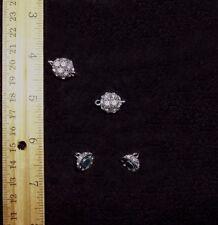 2 Pcs. Crystal Shamballa Style Bling Rhinestone Pave Ball Magnetic Bead Clasps