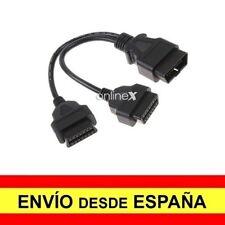 Cable con Conector OBD2 16 Pin Macho a Doble OBD2 Hembra 16 Pin 1,5 Metros a2985