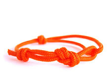 Simple Bracelet Women Men Rope Paracord String Minimalist Infinity Knot Orange