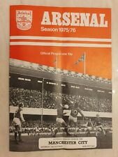 1975/76  Arsenal v Manchester City 4th October, Cup Final Voucher intact