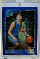 2018 18-19 OPTIC Blue Velocity Prizm Luka Doncic Rookie RC #177, RATED ROOKIE