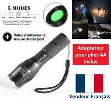 Lampe torche LED 10000LM XML-T6 ultra puissante Lampe de poche tactique zoomable