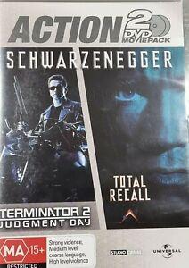 TERMINATOR 2 / TOTAL RECALL DVD (PAL, 2006) VGC, FREE POST