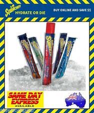 Sqwincher Frozen Squeeze Pops 10pcs Electrolyte Enhanced Ice Block Caffeine