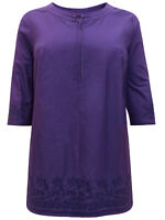 Ulla Popken tunic top blouse plus size 20/22 24/26 28/30 32/34 36/38 purple