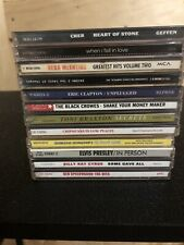 LOT OF 12 EMPTY CD CASES WITH COVER ART **NO CD INCLUDED**