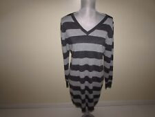 Old Navy Womens Sweater Dress Petite Large NWT Long Sleeves Gray V-Neck Pullover