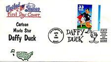 US FDC #3306a Daffy Duck From Uncut Press Sheet, Boerger (5095)aa