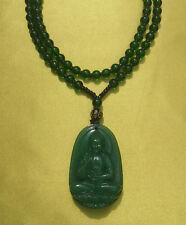 Sehr schöne Kette aus Nepal mit Buddha-Amulett aus echtem grünem Onyx