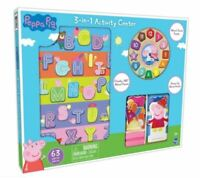 Peppa Pig Wooden puzzle Clock and Activity Set 63 Pieces 3-in-1 Peppa Pig Set