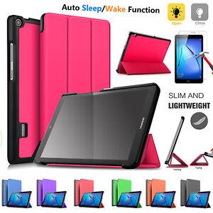 "Ultra Slim Huawei MediaPad T3 8""  (2017) SMART Magnetic Stand Flip Case Cover UK"