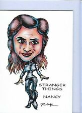 STRANGER THINGS NANCY ** TRADING CARD ART SIGNED by RAK ** NM SEE MY STORE