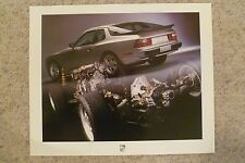 1986 Porsche 944 Coupe Showroom Advertising Sales Poster RARE Awesome L@@K 23x19