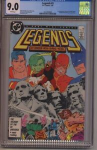 LEGENDS #3 (DC 1987) - CGC 9.0 NM-  WHITE PAGES - 1st New SUICIDE SQUAD - BYRNE