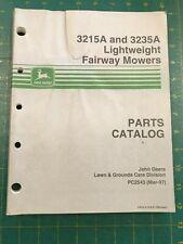 Oem John Deere Parts Catalog 3215A 3235A Fairway Mowers Pc2543