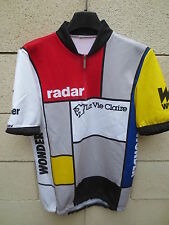VINTAGE Maillot cycliste LA VIE CLAIRE Tour France 1985 cycling shirt M Hinault