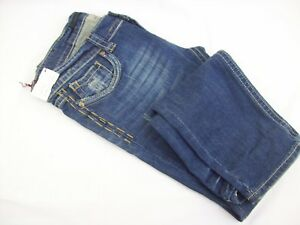 Urban Behavior Melrose Distressed Skinny Leg Back Flap Low Rise Blue Jeans Sz 30