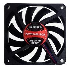 EverCool EC7010M12CA 70x70x10mm Fan, 3Pin