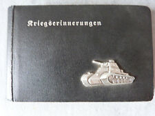 WW2 journal album photos Kriegserinnerungen Tank allemand