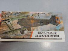 HANNOVER   AIRFIX  PACKET   ART WORK  & INSTRUCTION LEAFLET AERONAUTICA AVIATION
