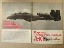 6/1979 PUB FAIRCHILD REPUBLIC A-10 USAF TANK KILLER ORIGINAL AD