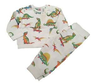 Cath Kidston Dino Skateboard Tracksuit Jogger Baby Set NEW Cotton 9-18 Months