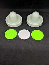 Air Hockey Mallets / pushers (Dynamo) with 3 small Pucks! regular / quiet