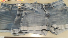 2 pair Cherokee denim shorts girls sz XL (14-16)