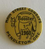 Vintage 1960 Main Street Cowboys Booster Pendleton OR Pinback Buttons
