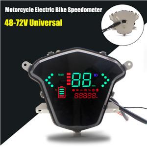 48V-72V Motorcycle Electric Bike LCD Digital Speedometer Odometer Indicator Kit
