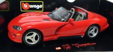 Artículos de automodelismo y aeromodelismo color principal rojo Dodge de escala 1:18