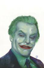 """Joker Jack Nicholson Batman Movie Original Realism Painting Art Print 11x14"""""""